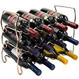 Sorbus 3-Tier Stackable Wine Rack - Classic Style Wine Racks for Bottles -...
