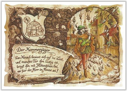 Die Staffelei Geschenk Kammerjäger Schädlingsbekämpfer Präsent Zeichnung Color 30 x 21 cm