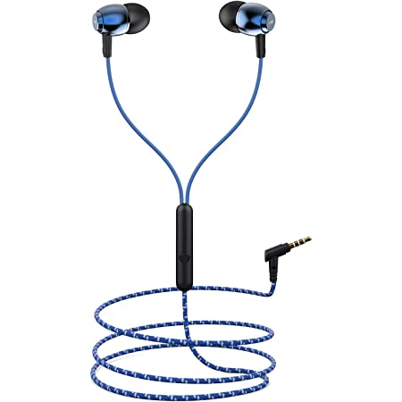 boAt Bassheads 162 in Ear Wired Earphones with Mic(Jazzy Blue)