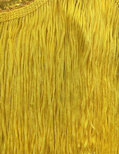 Uniq Sense XS-XXL Women's Roaring 20s V-Neck Gatsby Dresses- Vintage Inpired Sequin Beaded Flapper Dresses (XS, Yellow)