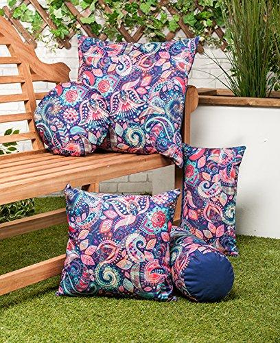 Shopisfy Colourful Garden Designs Water Resistant Modern Indoor/Outdoor Scatter Cushion (Delhi, 18' Cushion)