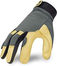 Intra-FIT General Work Gloves, Genuine Deerskin Construction Gloves,Soft, Improved..