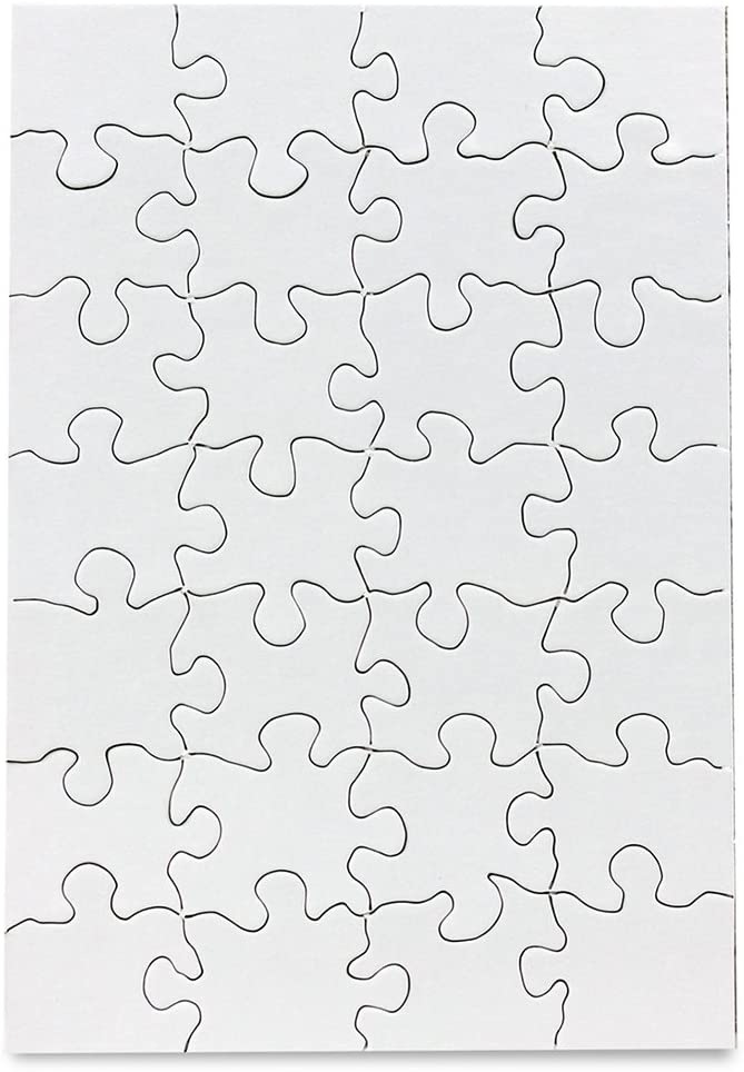"""Hygloss Compoz-A-Puzzle, 5 1/2"""" x 8"""" Rectangle, 28-Piece, Pack of 24"""