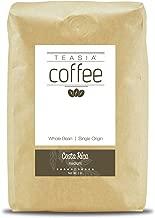 Teasia Coffee, Costa Rica, Single Origin, Medium Roast, Whole Bean, 2-Pound Bag