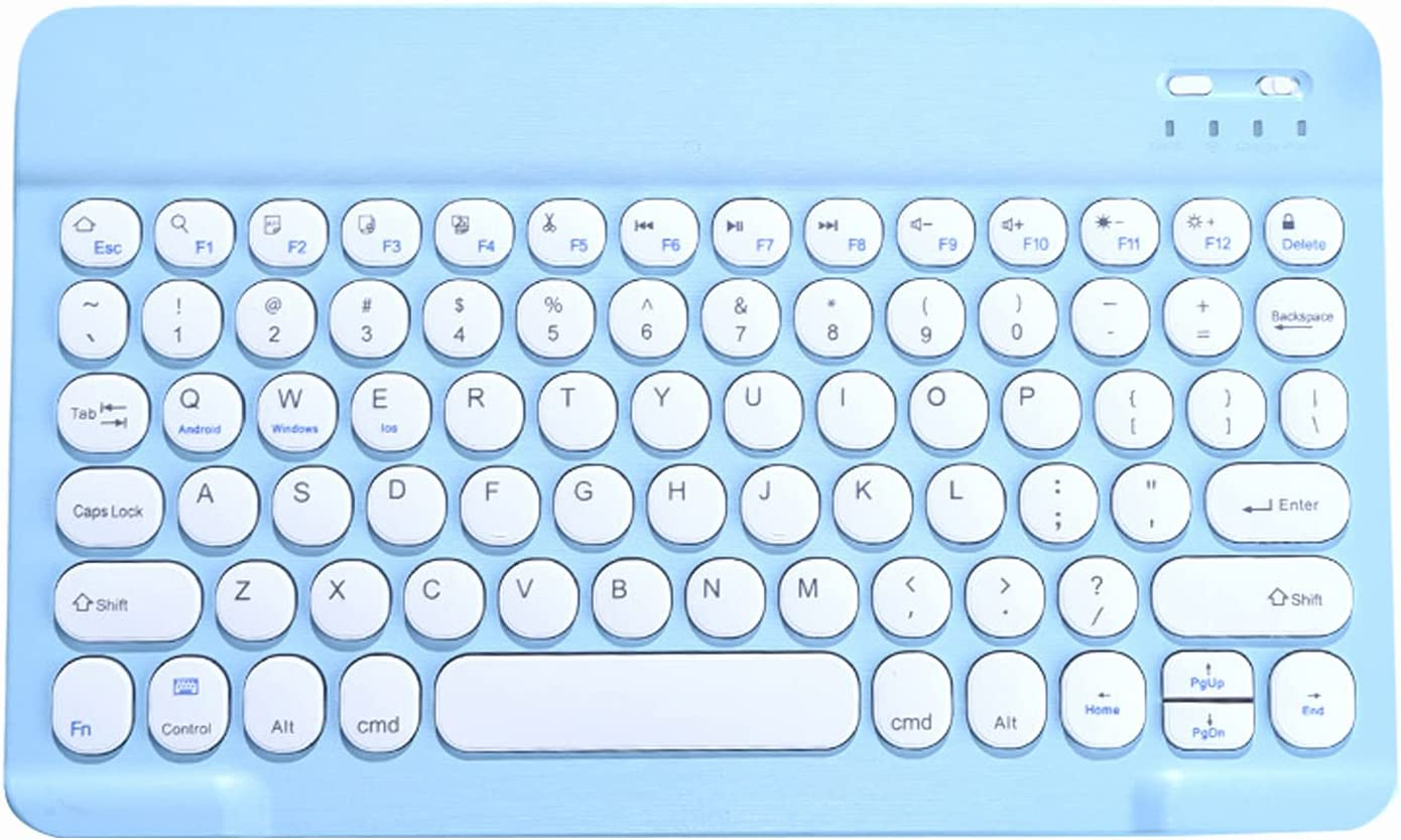 Kesoto Keyboard and Mouse,Bluetooth 10 inch Rechargeable Set, for for iPad Pro Air Mini for 13 iOS 13 and Above for iPad 8TH 7TH Gen - Blue