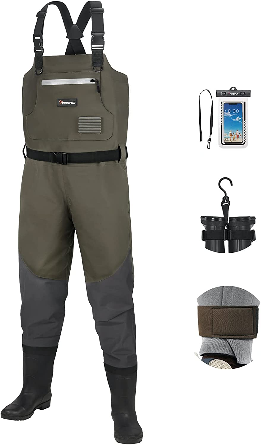 Piscifun BX Breathable Chest Alternative dealer Waders W Super special price with Boots Bootfoot