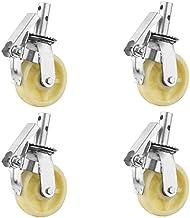 4 stks Meubelwielen 6In Heavy Duty Polyurethaan Nylon Caster Wiel Steiger Swivel Stem Caster met Total Lock Remroller Lage...