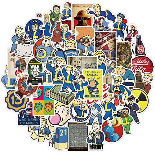 Fallout Stickers for Laptop and Water Bottle, Cool Game Vinyl Decal for Teens,Girl Phone,Bike,Skateboard,Travel Case,Computer (Fallout)