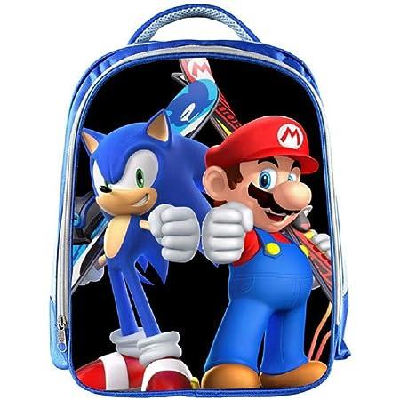 Personnalisé Enfants Sac à dos tout nom Sonic Bleu Garçons Enfants École