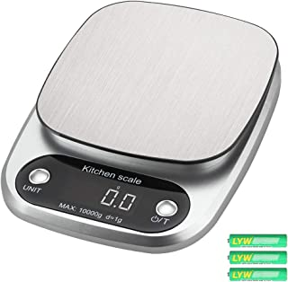 Digital Kitchen Scale, Tomorotec Precise 10kg / 22lb Wide Range Food Scale Cooking Scale and Baking Scale with Backlit