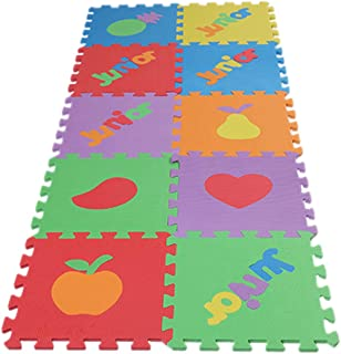 MagiDeal 10 x Pop Out Interlocking Tiles Floor Baby Kids Play Puzzle Gym Exercise Mat - Fruits, as described