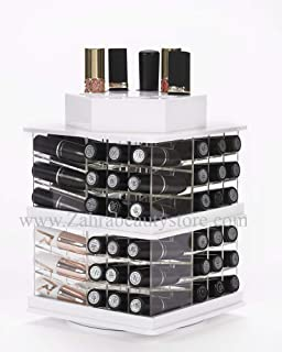Zahra Beauty Spinning Lipstick Tower- Classy White- The Best Lipstick Holder, Holds 81 Lipsticks