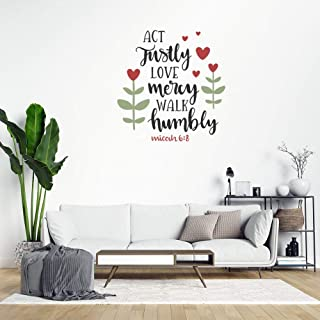 Amazon Com Micah 6 8 12 X22 Vinyl Wall Decal He Has Shown You O Man What Is Good And What Does The Lord Require Of You To Act Justly And To Love Mercy And