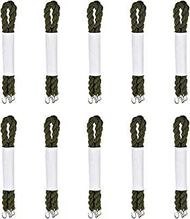 Lufee 10 Pairs Military Boot Band Straps,Blousing Garters Elastic Boot Bands with Metal Hooks for Navy Army and Air Force