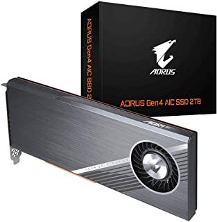 GIGABYTE AORUS Nvme Add-in-Card 2TB High Performance Gaming, Advanced Thermal Solution with Copper Heatsink, Toshiba 3D TL...