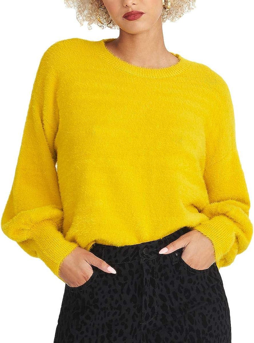 Rachel Rachel Roy Womens Felicity Crop Cozy Pullover Sweater