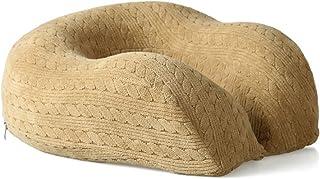 U-shaped Neck Pillow Memory Foam Lightweight Soft Pillow Support Cushion Office Nap Portable Travel Neck Head Pillow (Color : C)