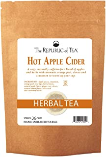 The Republic of Tea Hot Apple Cider Seasonal Herbal Tea, 250 Tea Bag Bulk