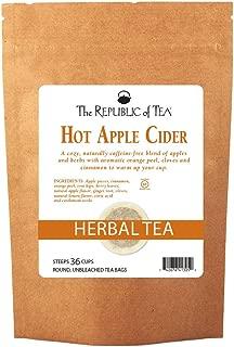 The Republic of Tea Hot Apple Cider Seasonal Herbal Tea, 250 Tea Bag Bulk