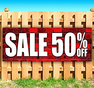 50 off sale signs