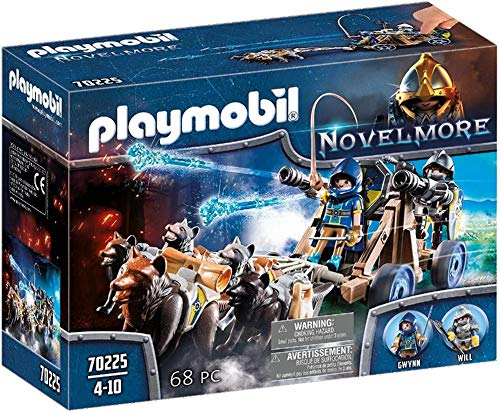 Playmobil - Chevaliers Novelmore avec Canon et Loups - 70225