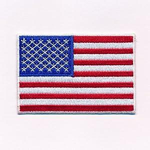 40 x 25 MM American Flag USA Flag Washington 0640 A Sew-On Patch