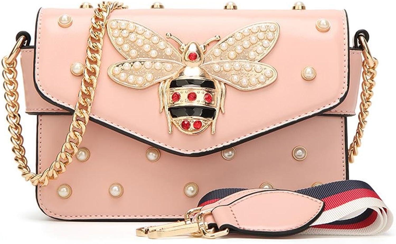 Women's Designer Handbags with Bee, Pu Leather Shoulder Bags Cross Body Bag