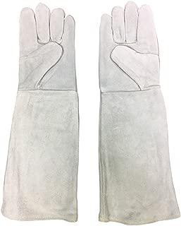 BEATON JAPAN ペットグローブ 保護グローブ 猫 犬 ペット 噛みつき防止 手袋 牛革 厚手 ロング 肘まで保護