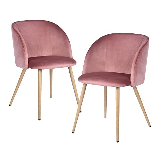 dc7c122d84fd0 EGGREE Velvet Chairs Accent Chairs with Metal Chair legs (velvet chair x 2