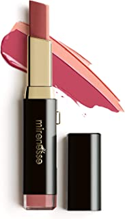 Mirenesse 10 Collagen Maxi-tone Lip Bar,  Plumping Lipstick with Two Rich Red Color Tones,  Hydrating & Lip Softening,  Vegan & Toxin Free,  7 Fate 0.1oz