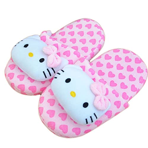 149b45aae Women Cute Hello Kitty Household Indoor Cotton Slippers