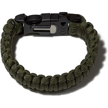 Waterproof Outdoor Réglable Paracord Survie d/'urgence Bracelet