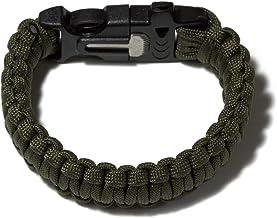 7 Strand Supervivencia Militar pulsera de la cuerda de la armadura de la hebilla TOOGOO Amarillo R