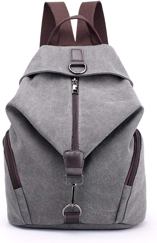 Lady Canvas Shoulder Bag Large Capacity Leisure Travel Backpack