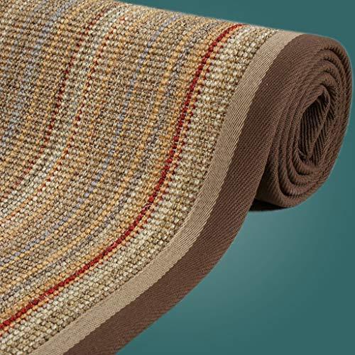 WEN tapijten Vouwen Tatami Mat Natuurlijke Vezel Collectie Nonslip Keuken Tapijt, Slaapkamer Decor Zomer Zeegras Ruimte Tapijt Zomer Slapen Tapijt Koeling Tapijt,2 Kleuren