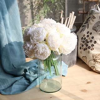 YJYdada Artificial Silk Fake Flowers Peony Floral Wedding Bouquet Bridal Hydrangea Decor (A)