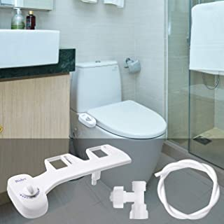 2020 Upgraded Bidet Toilet Seat Attachment - Amzdest Non-Electric Self Cleaning Nozzle Bidet for Toilet, Clear Rear Bidet Cold Fresh Water Ideal for Personal Hygiene and Feminine Wash