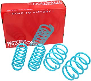 Godspeed LS-TS-TA-0016 Traction-S Performance Lowering Springs, Reduce Body Roll, Improved Handling, Set of 4
