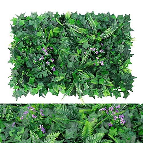 WHAPPY Künstliche Buchsbaumplatten & Kunstpflanzen - Verwendung für Sichtschutz, Graswand & Hintergrund im Grünen