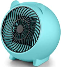 Yuan Dun'er Calefactor pies,Mini Calentador de Ventilador de Mesa eléctrico Calentador de Aire PTC rápido Calentador de Ventilador de cerámica portátil pequeño PTC Eléctrico-Azul_Yo