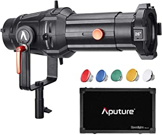 Aputure Spotlight Mount 26° Lighting Modifier with Interchangeable Projector Len and 3 GOBO 120D Mark 2 120D LS C300D and Other Bowen-S Mount Light, Including PERGEAR Soft Diffuser