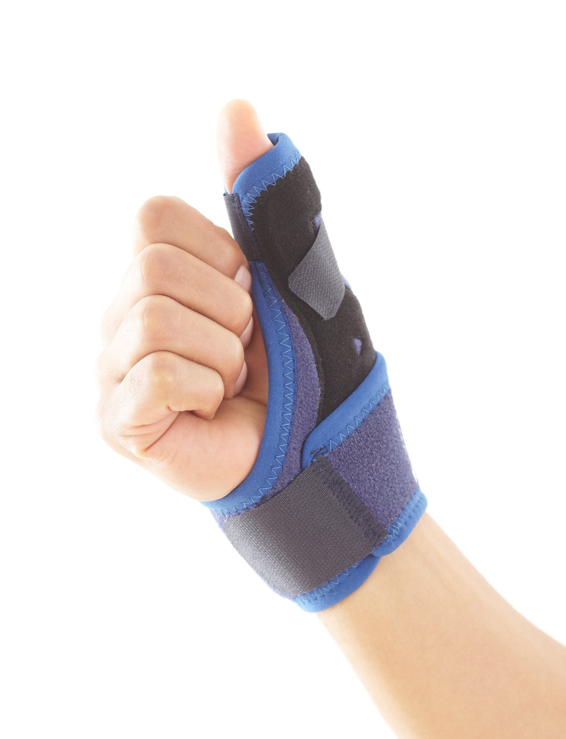 Neo G Easy-Fit Thumb Brace - Spica Support for Pain, Trigger Thumb, Carpal Tunnel Syndrome, Arthritis, Sports, Thumb Injuries – Adjustable Compression – Class 1 Medical Grade – Unisex - Blue: Industrial & Scientific