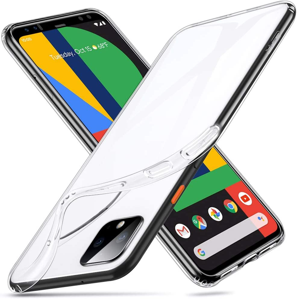 ESR Essential Zero Compatible for Pixel 4 XL Case, Slim Clear Soft TPU Cover with Cushioned Corners for The Google Pixel 4 XL(2019), Clear