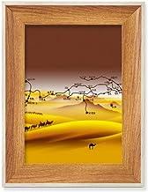 Mapa de estrada de madeira Deserto Along The Way To The Silk Desktop Moldura de foto para exibição de imagem, pintura de a...