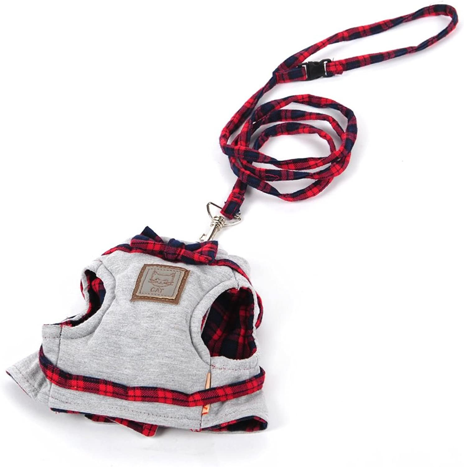 Cat Harness, Cat Cat Rope, Vest Cat Sling, Dog Chain, Cat Leash, Pets Avoid Escape Chest Strap (color   RED, Size   S)