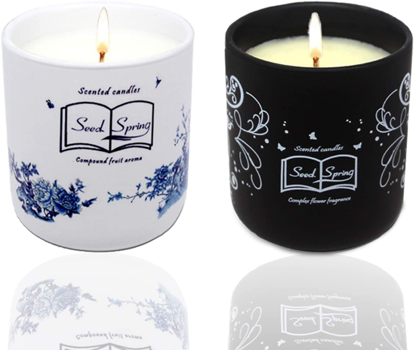 Candle Luxury Scented Soy Orange Sales AppleStrawberry Courier shipping free shipping Blen