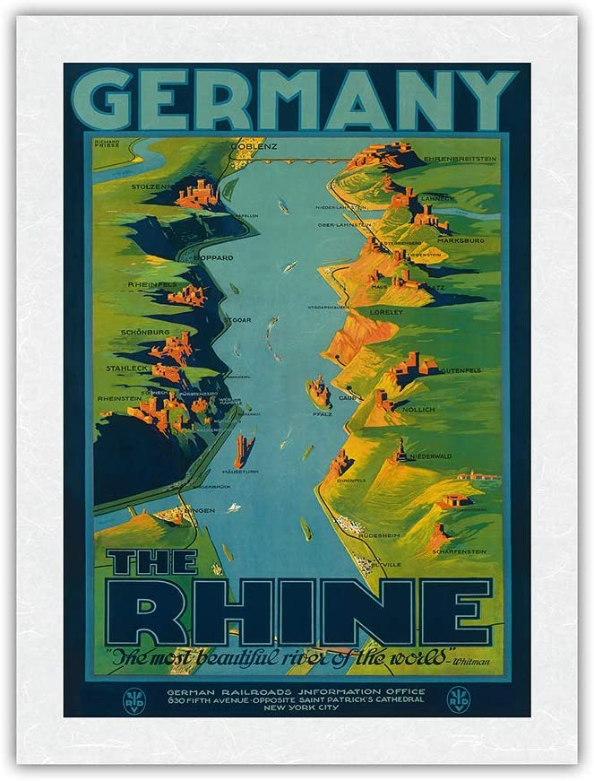 """出群 Germany - The Rhine """"The Most of Wa World"""" 誕生日 お祝い River Beautiful"""