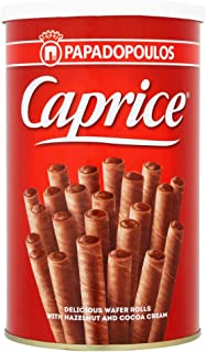 Caprice Wafer Classic Hazelnut and Cocoa Cream Rolls - 250 gm (Pack of 1)