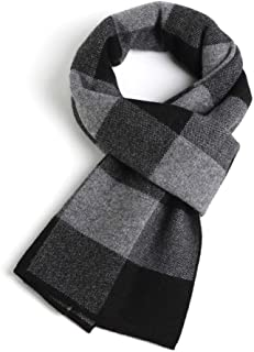 Winter Cashmere Wool Scarfs for Men Classic Plaid Business Christmas Infinity Scarves, Warm Soft Breathability, Match Any ...