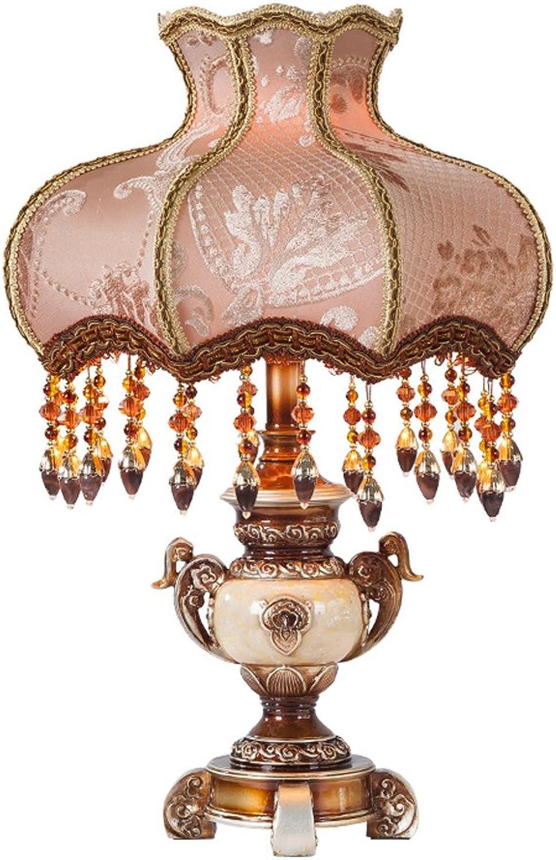 Gehobene europäische Tischlampe Schlafzimmer Nacht französischer Luxus amerikanischen pastoralen Stoff Prinzessin kreative Lampe Retro Tischlampe B07DKTQMN3     | Zu einem niedrigeren Preis